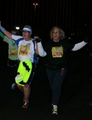 Alice and Greg finish Las Vegas Half Marathon 2011