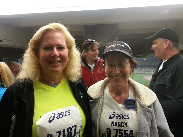 Alice and Nancy in Dodger Stadium