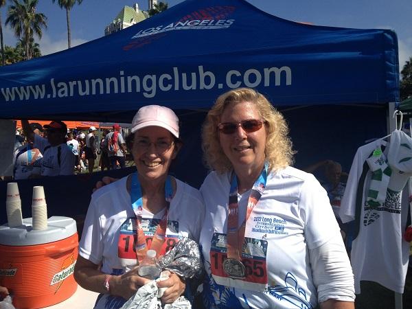 Alice and Nancy at the Long Beach Half Marathon
