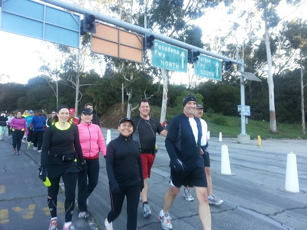 Run Walk 5 at Dodger Stadium Hil Training