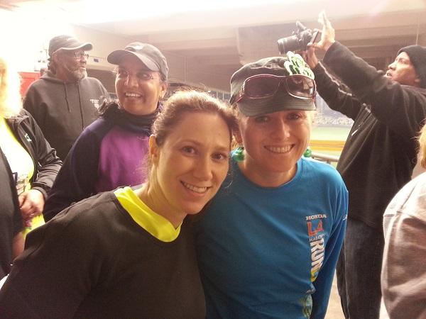 Flavia and Sue in Dodger Stadium
