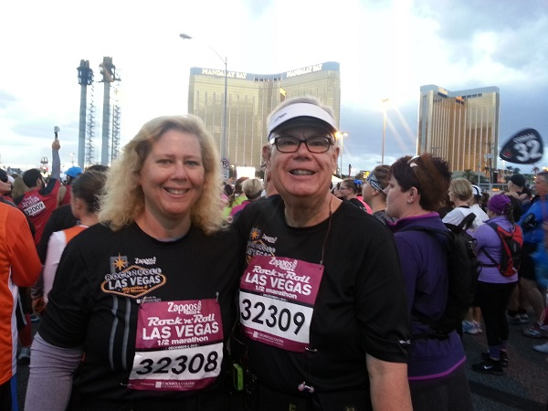 Greg and Alice at Las Vegas Half Marathon