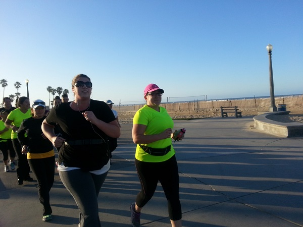 Nora and Magy lead run Walk 5