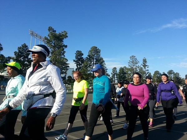 LA Roadrunners Run Walk 5 at dodger Stadium