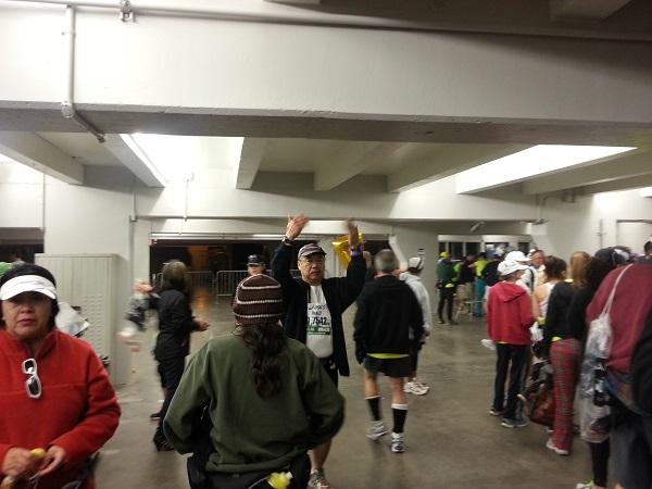 Walt lines us up in Dodger Stadium
