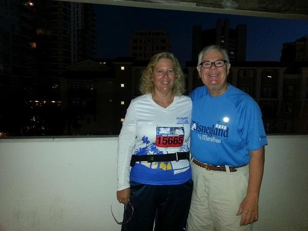 Long Beach Half Marathon Alice and Greg